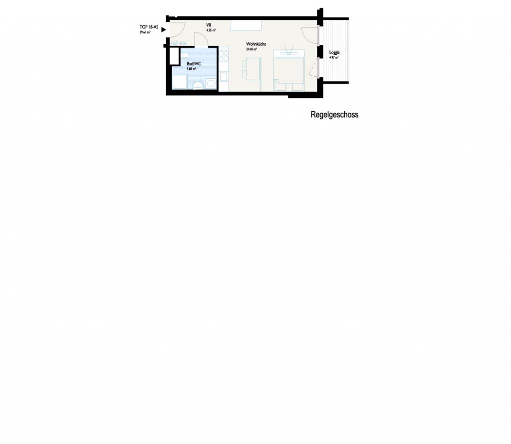 Grundriss Single-Wohnung