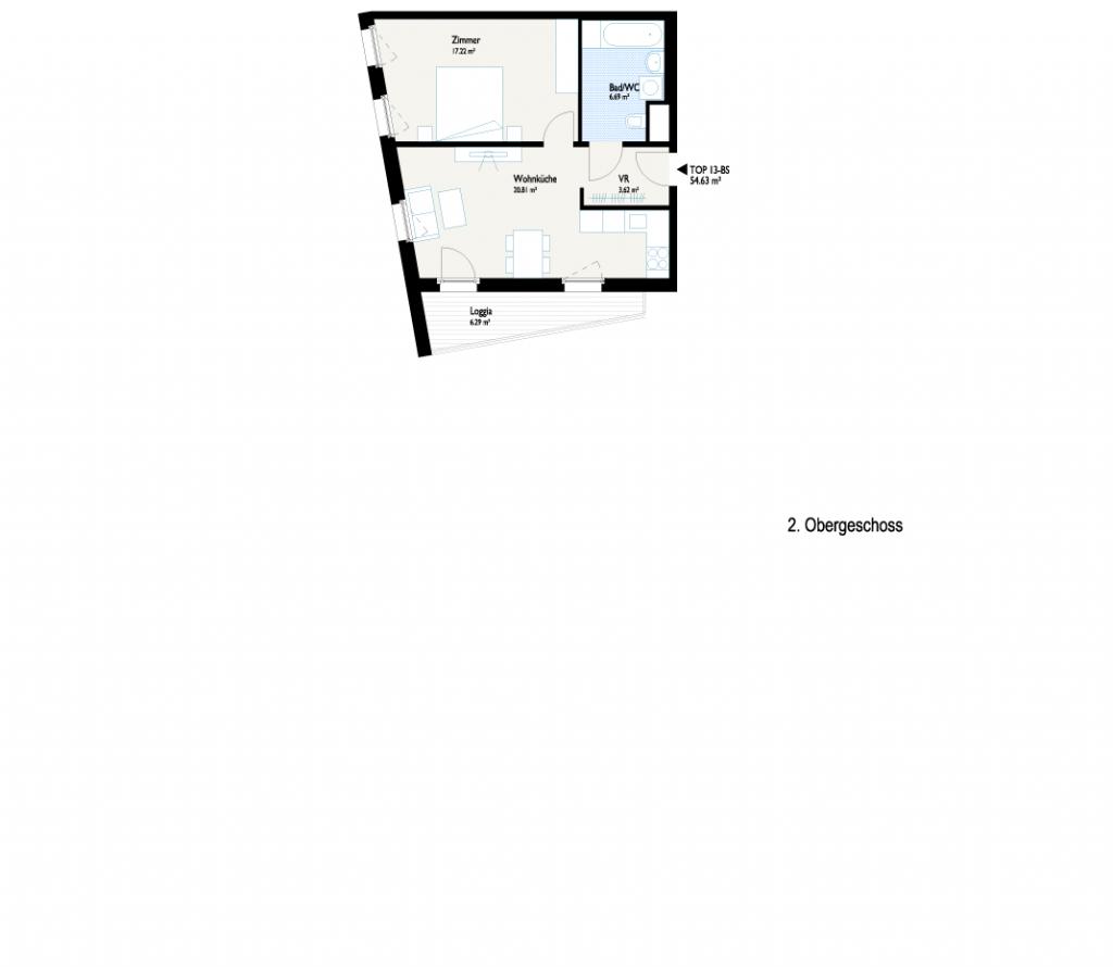 Grundriss Pärchen-Wohnung
