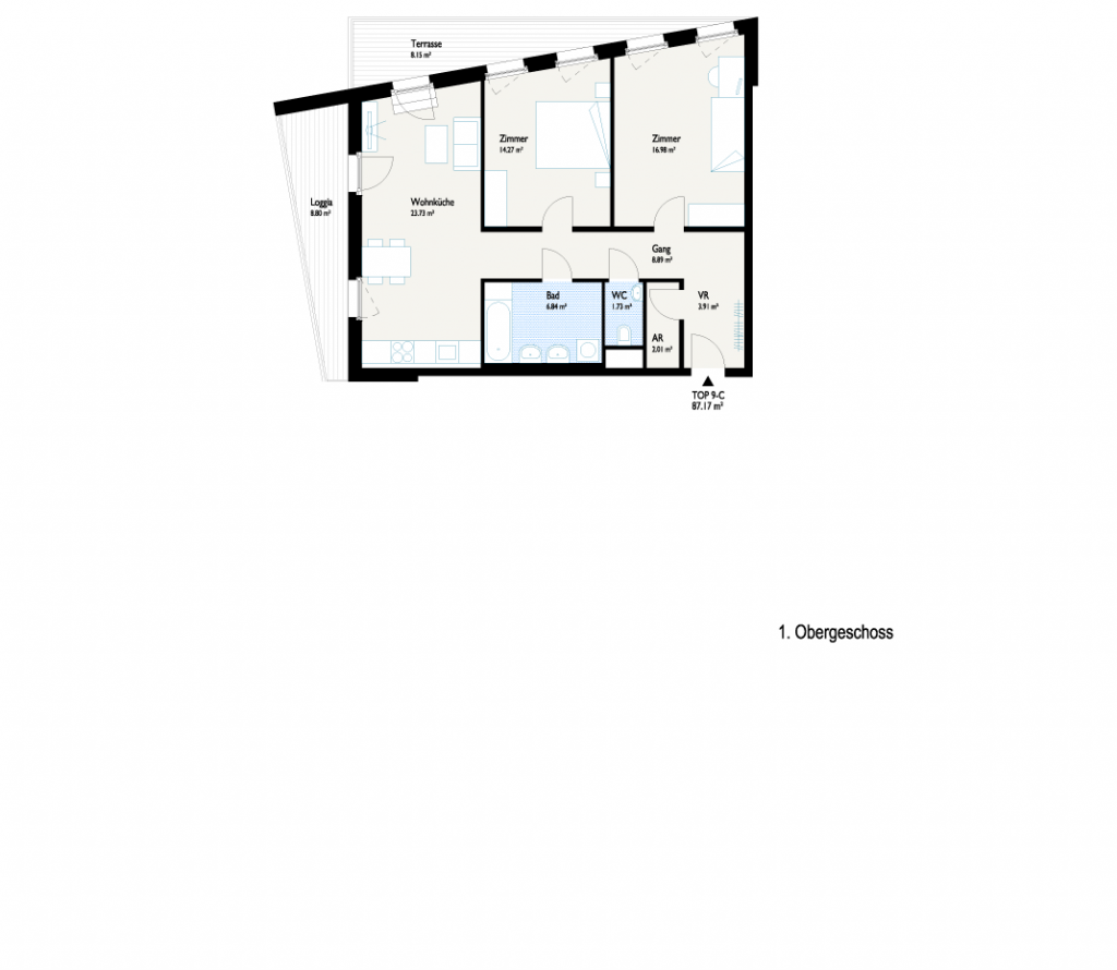 Grundriss Plus-Wohnung