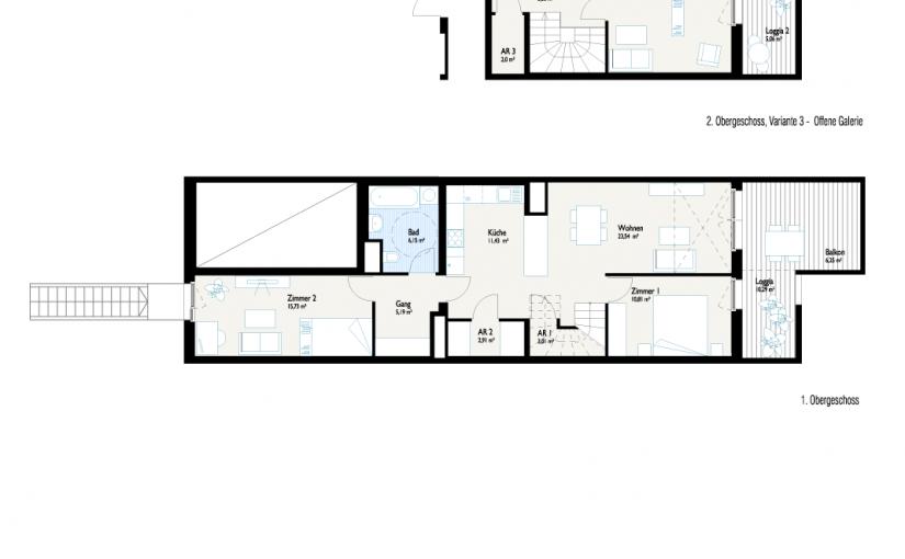 Grundriss 3-Generationenhaus V3