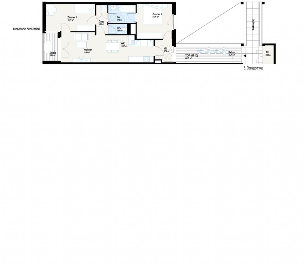 Grundriss Panorama-Apartment