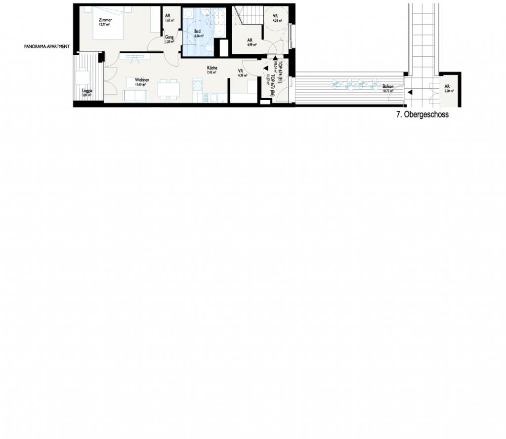 Grundriss Panorama-Apartment 2
